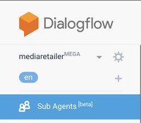 Mega Agent settings in Dialogflow