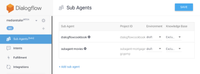Sub Agents in Dialogflow